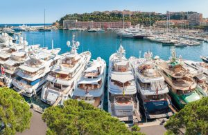 Moored Superyachts
